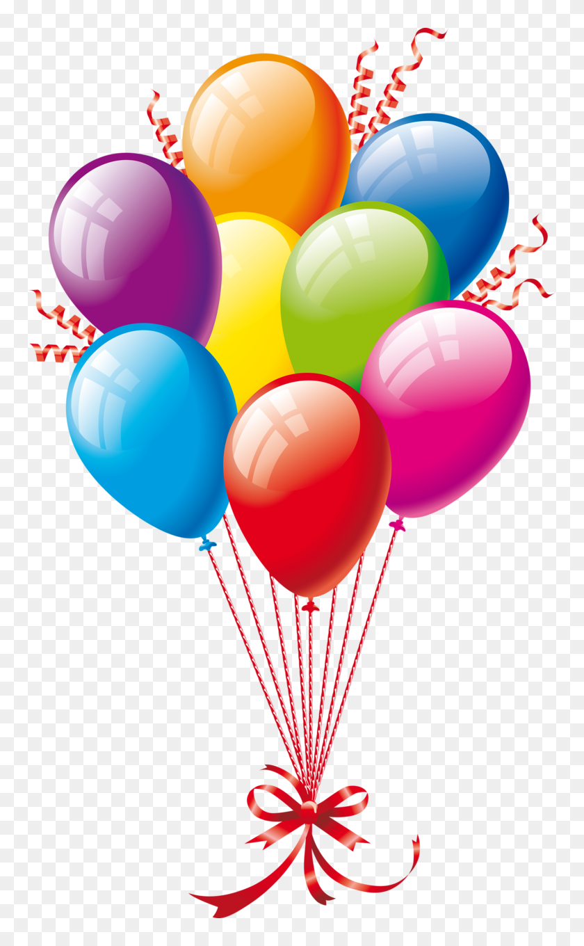 Clipart Balloons Christmas Happy Birthday Png Background