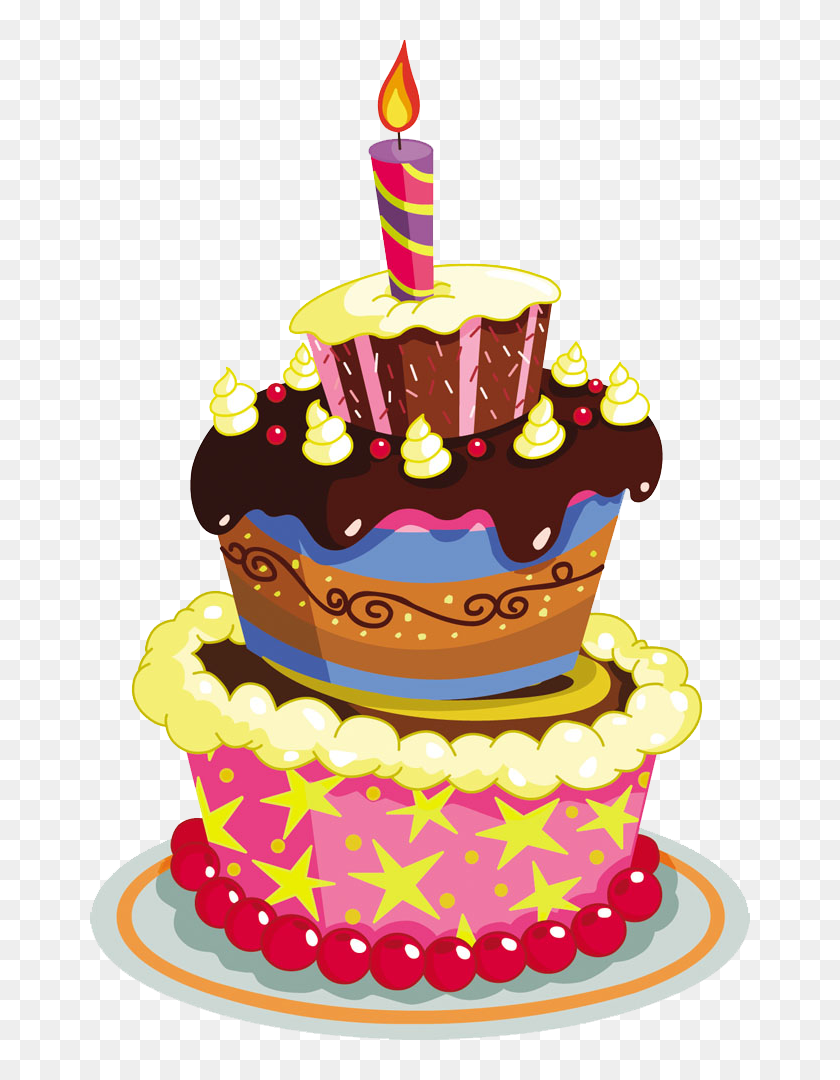 Cake transparent background. Birthday png happy vector