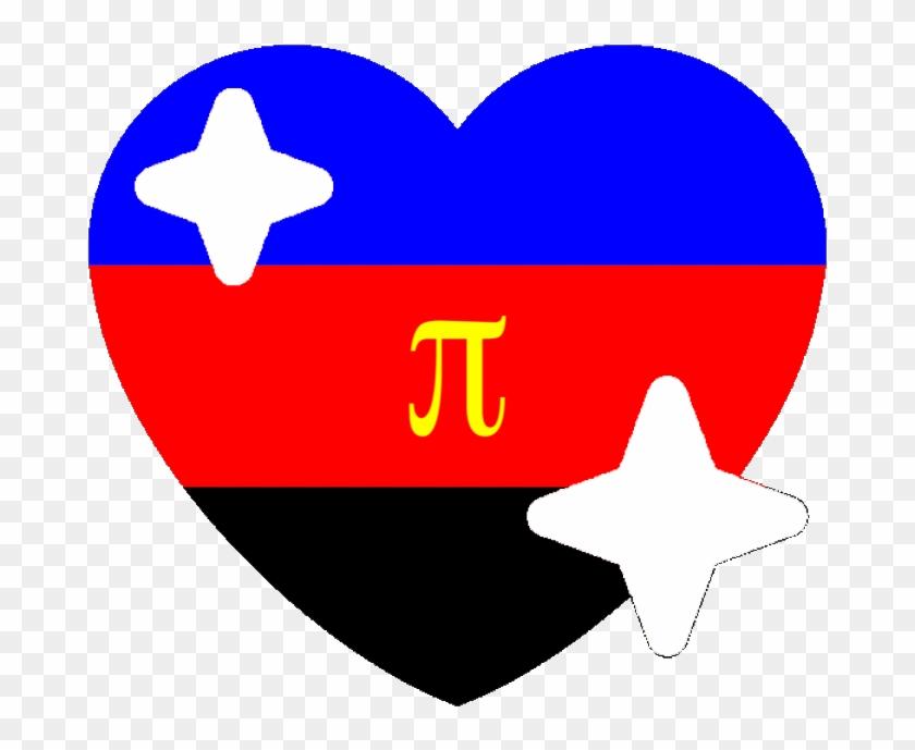 Polyamorous Sparkle Heart Discord Emoji - Transparent Pride