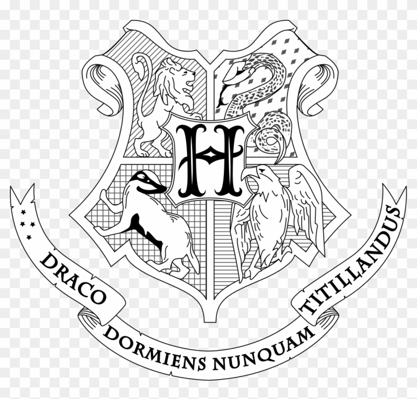 picture relating to Printable Harry Potter Coloring Pages identify Hogwarts Crest Coloring Website page Harry Potter Dwelling Printable
