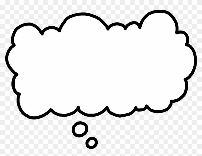 Thought bubble imagination. Clouds clipart transparent gif