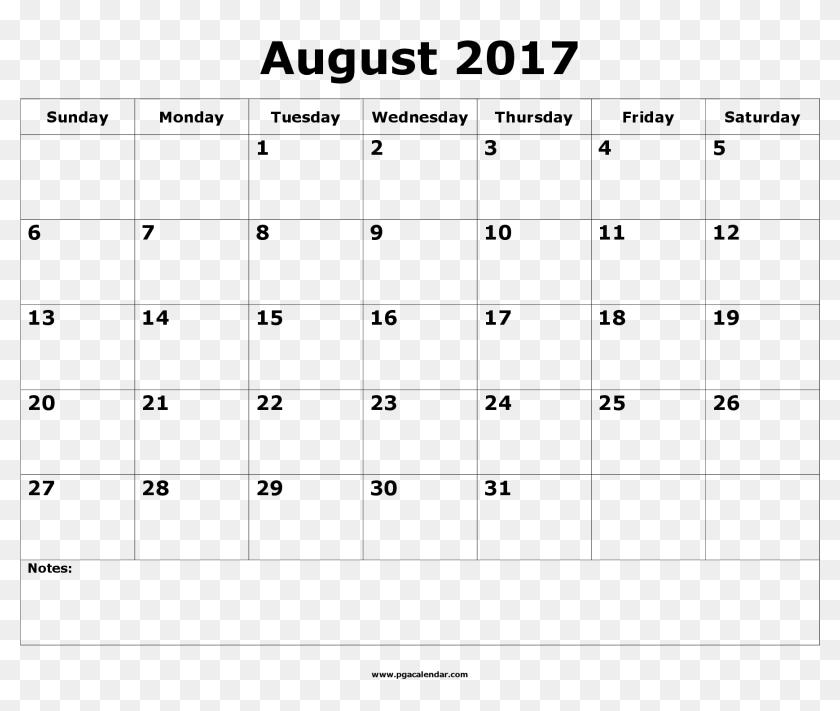 Calendario Ariana Grande 2020.August 2017 Calendar Printable Template Calendario Grande