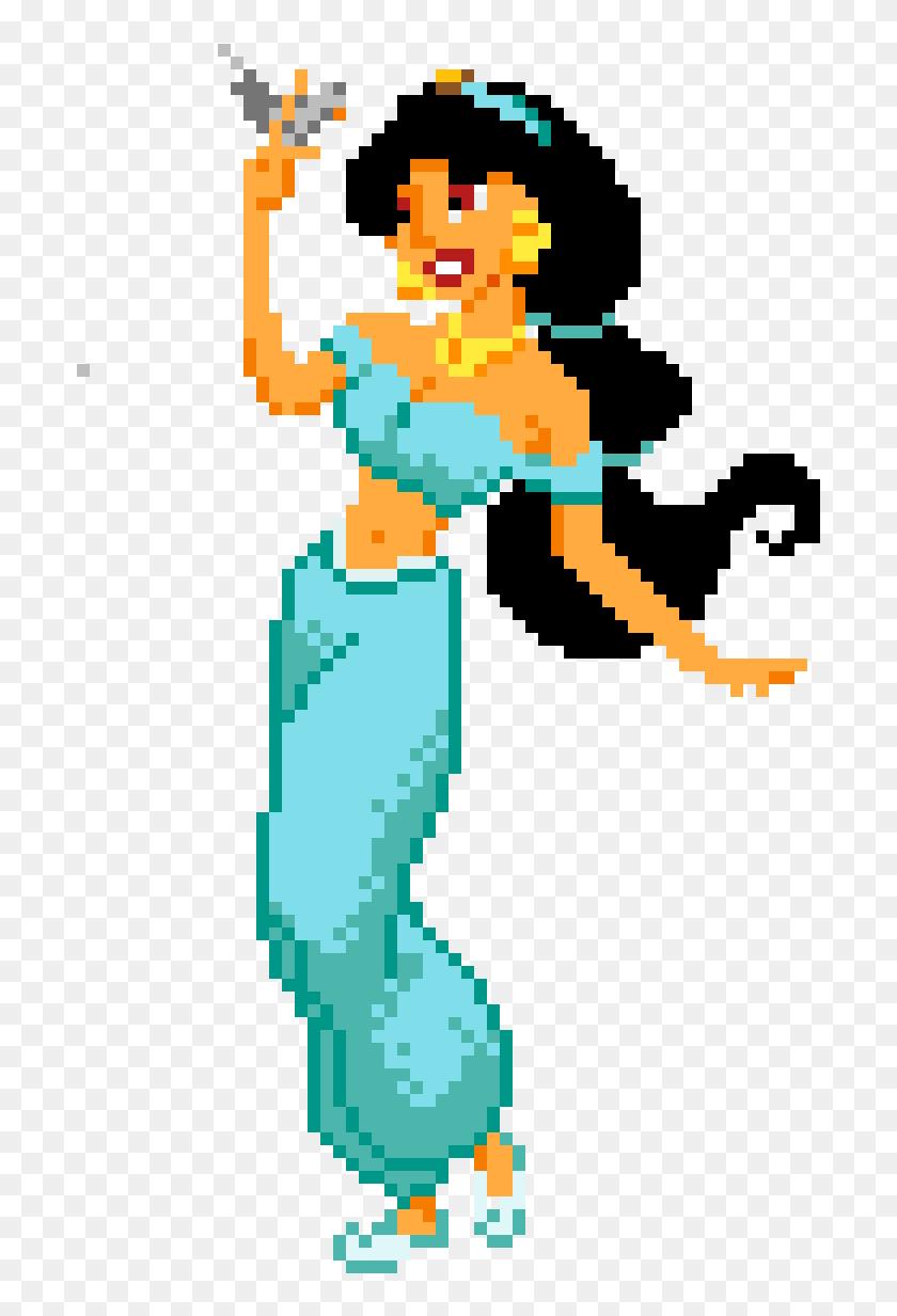 Princess Jasmine Anime Easy Minecraft Pixel Art Hd