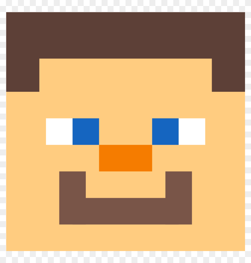 minecraft steve head pixel art