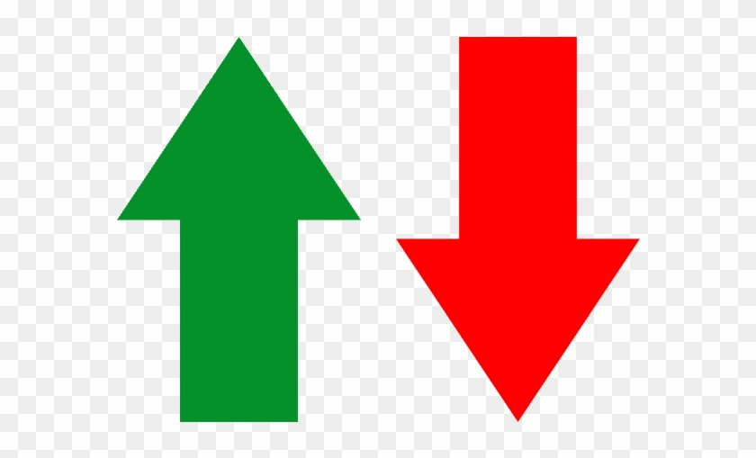 Green Arrow Pointing Up Next To A Red Arrow Pointing