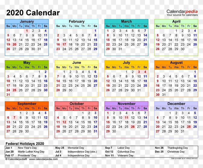 2020 Calendar Png Clipart - Calendar 2019 Uae Holidays ...