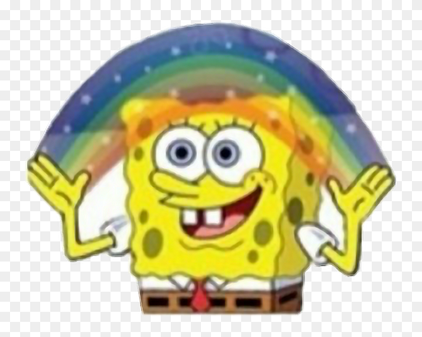 Spongebob Rainbow Freetoedit Stickers Para Whatsapp