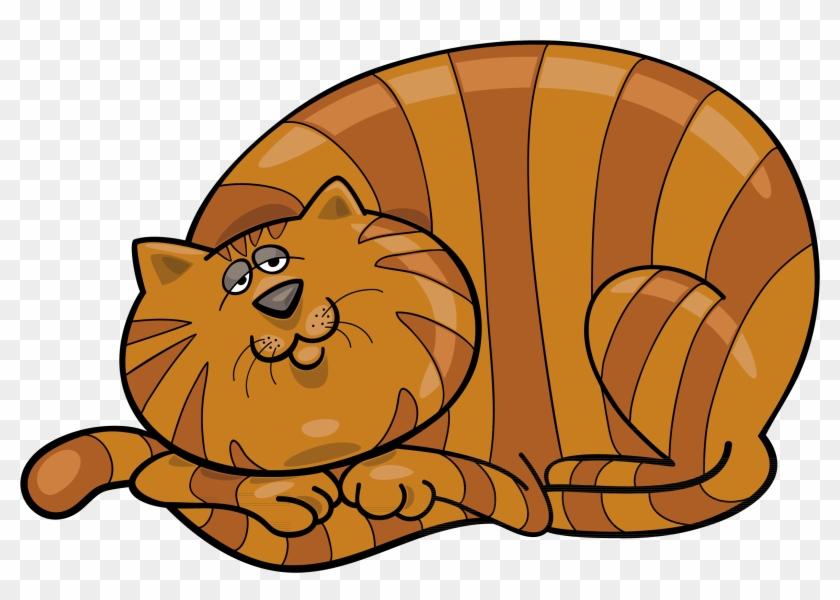 Fat Cat Clip Art - Fat Cat Clipart Black And White, HD Png ...