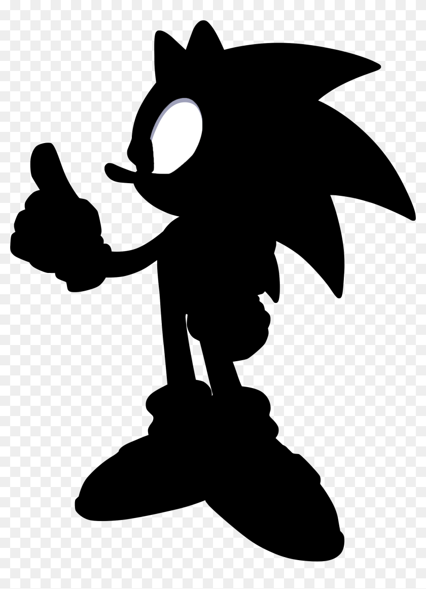 Sonic Silhouette Profile Sonic The Hedgehog Silhouette Hd Png Download 1870x2496 6604891 Pinpng