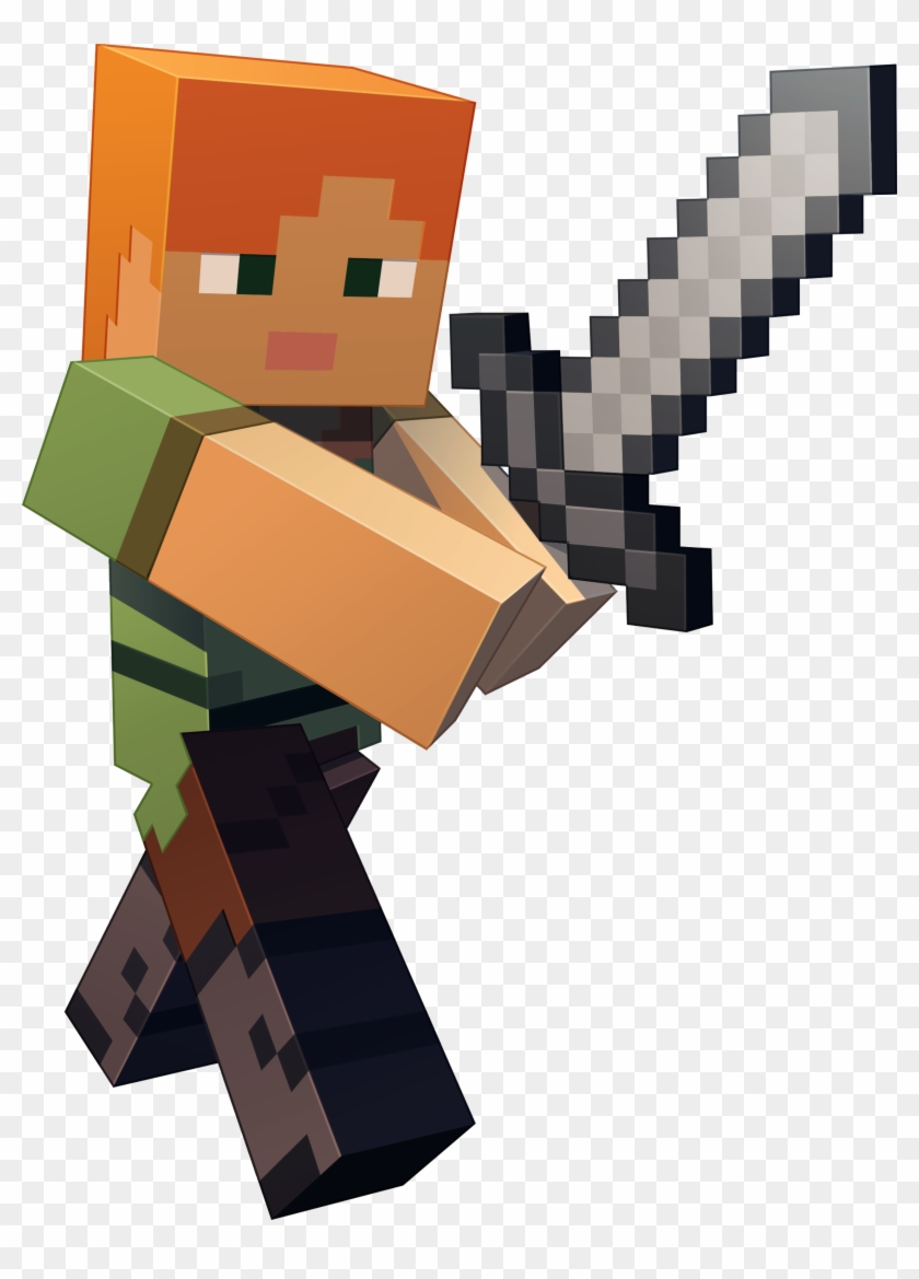 Minecraft Character Art Minecraft Steve And Alex Png