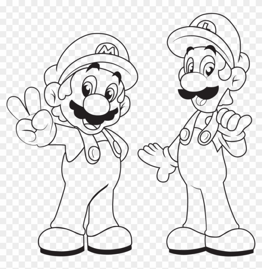 Skill Mario And Luigi Coloring Pages To Print Brothers Mario And
