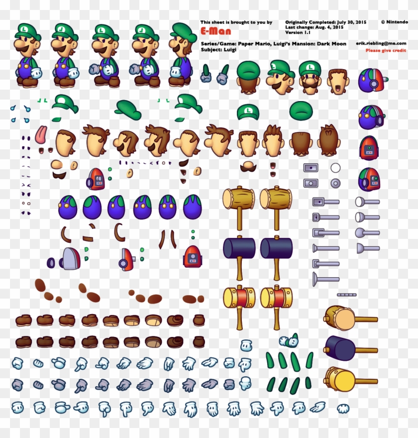 Itp6hkd Mario And Luigi Paper Jam Paper Mario Sprites Hd Png