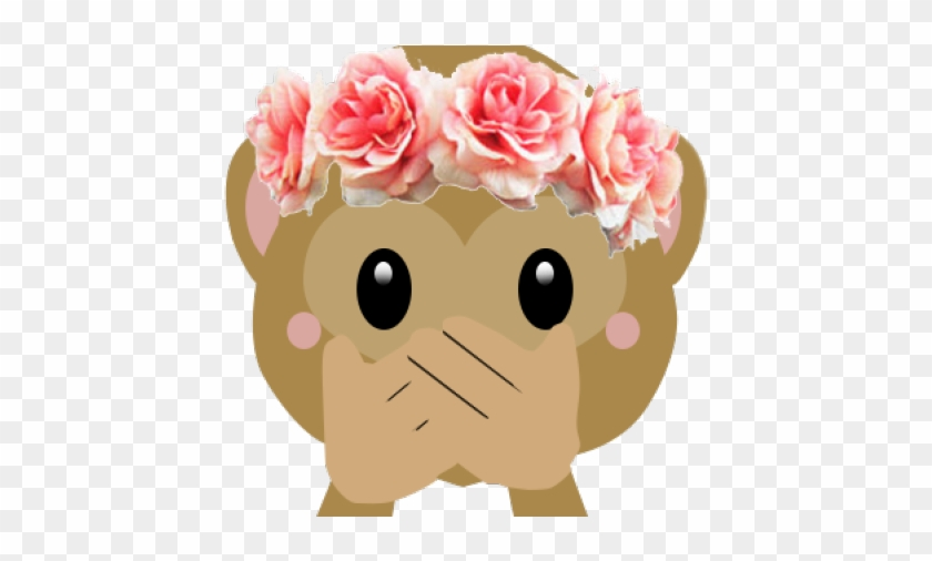 Flower crown emoji. Clipart rose for edits