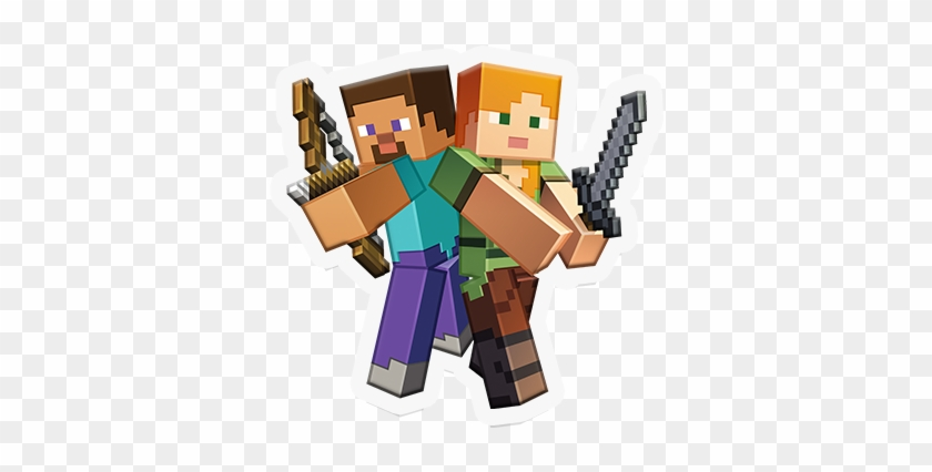 Take A Look At The Trailer Above To See These Animated Minecraft Steve And Alex Png Transparent Png 748x421 699129 Pinpng