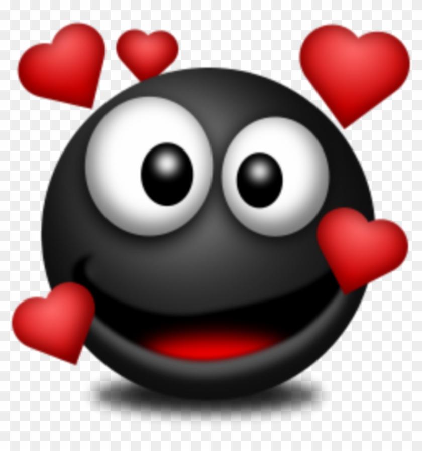 Mq Black Red Heart Hearts Love Emojis Emoji - Cartoon, HD