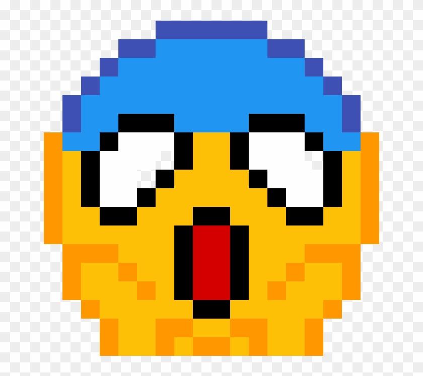 Shocked Emoji Pixel Art Emoji Hd Png Download 1184x1184