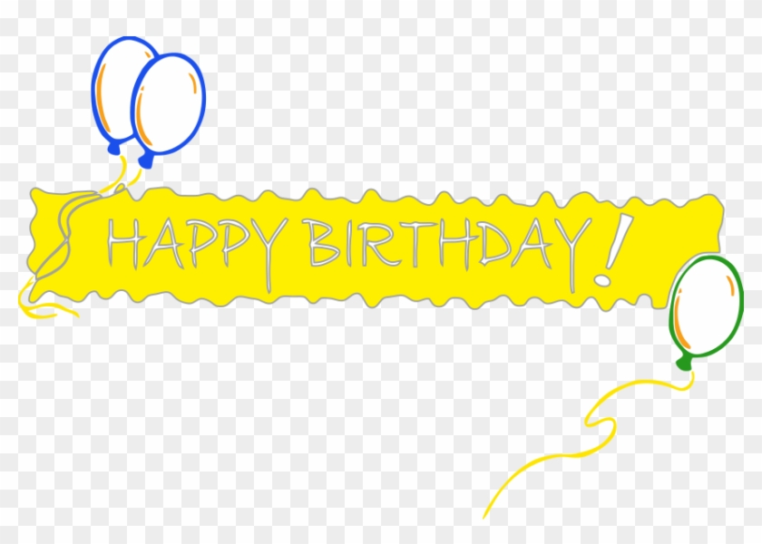 Happy Birthday Banner Png Pic Happy Birthday One Line