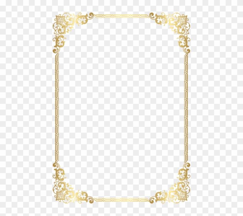 Free Png Download Gold Border Frame Transparent Clipart