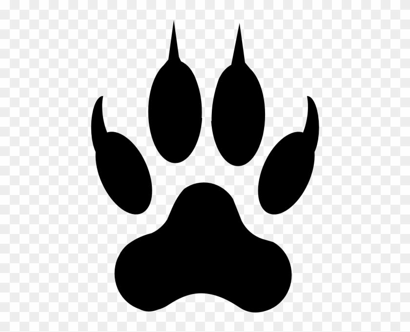 Dog Paw Print Outline - Jaguar Paw Clipart, HD Png Download