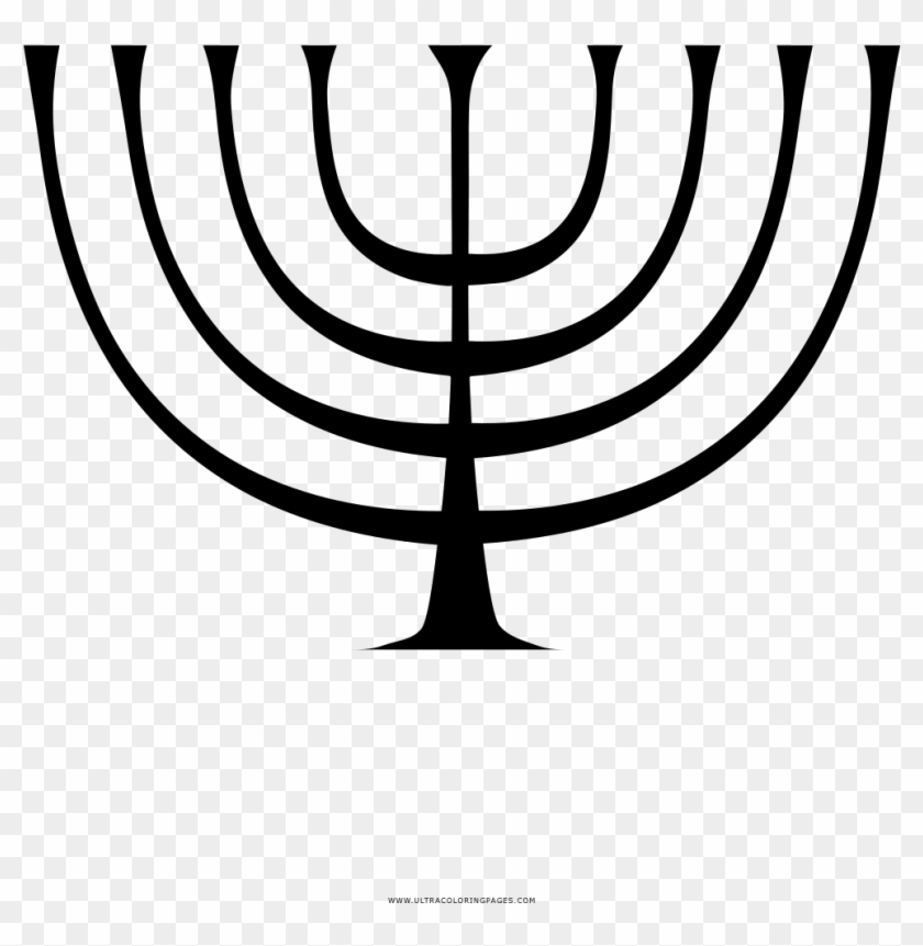 Menorah Coloring Page - Drawing: The Motive Force Of ...