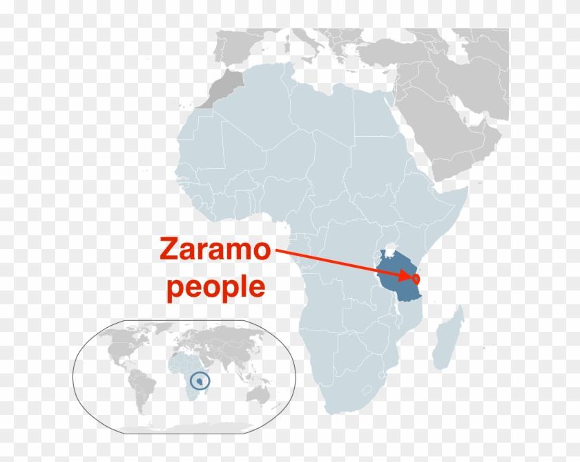 Tanzania Africa World Map.Zaramo People Tanzania Africa World Map Hd Png Download