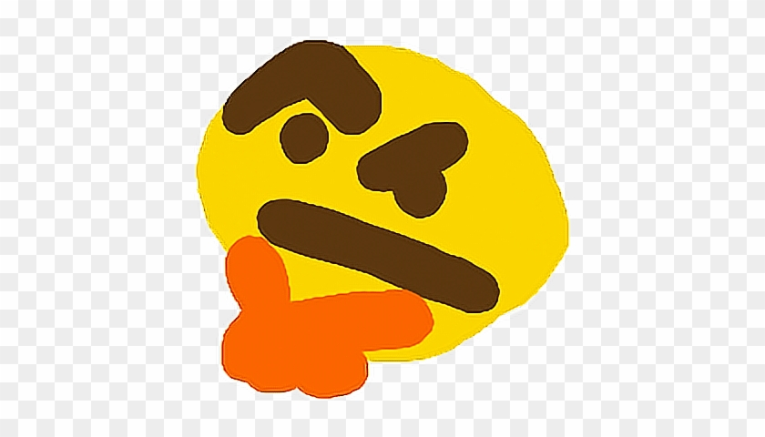 Think Emoji Thonk Memes Lol Emote Confused Pepe Hmm