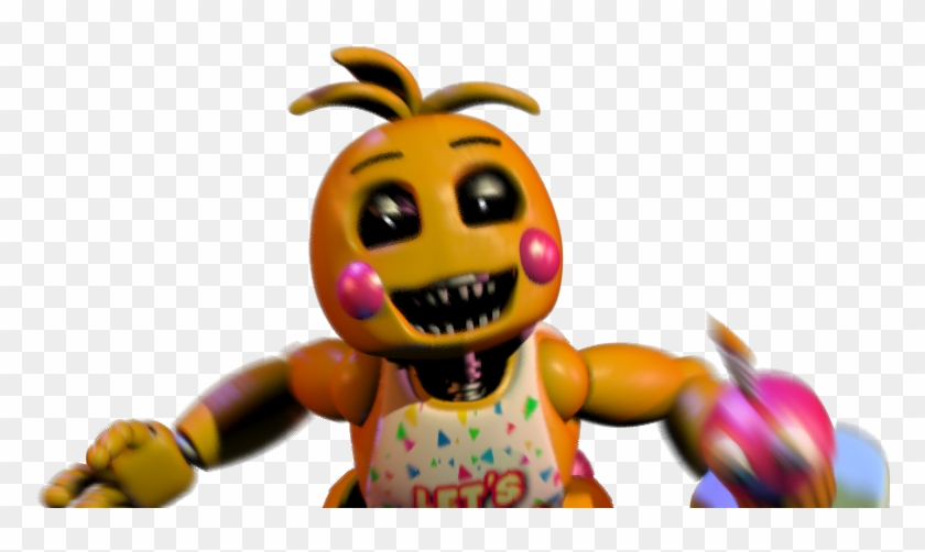 Fnaf 2 Toy Chica Jumpscare By Crueldude100 Toy Chica Jumpscare Hd Png Download 776x422 865928 Pinpng