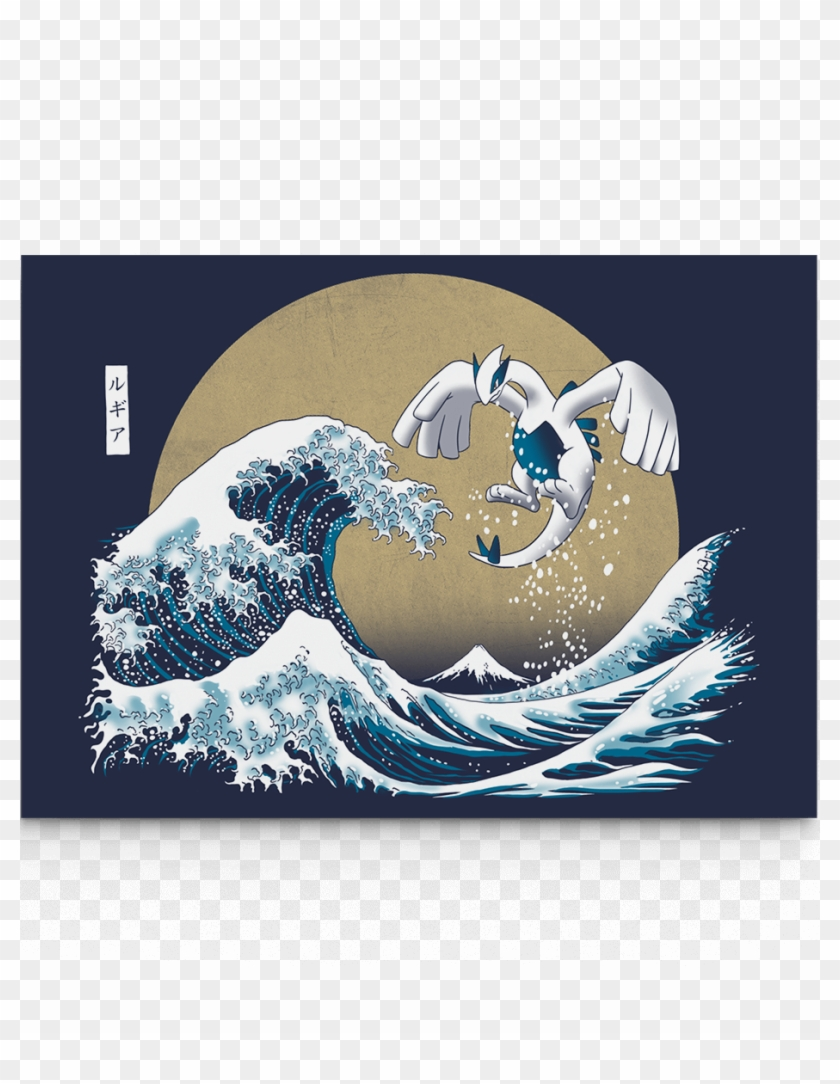 Great Wave Off Kanagawa Pokemon Hd Png Download 930x1156
