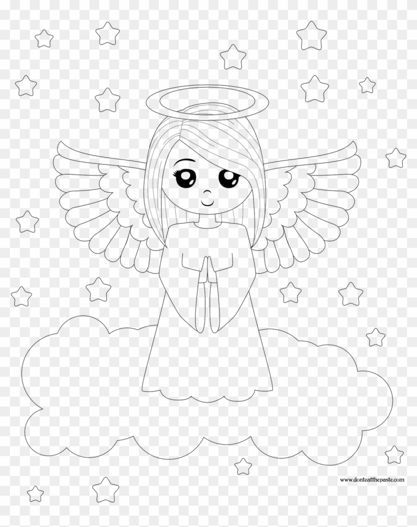 photograph about Angel Printable named 1280 X 1600 4 - Totally free Printable Angel Coloring Webpages, High definition Png