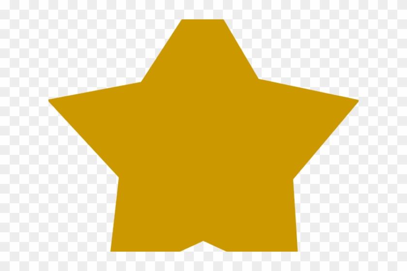 Large Gold Stars Rating Star Single Png Transparent Png
