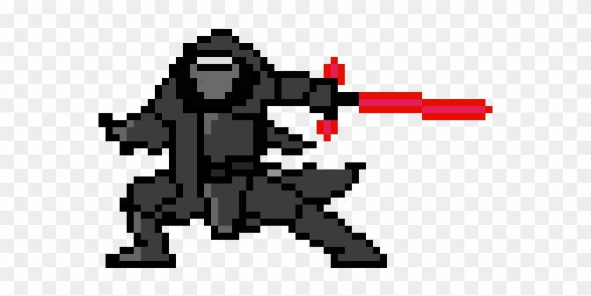 Kylo Ren Dessin Pixel Art Star Wars Hd Png Download